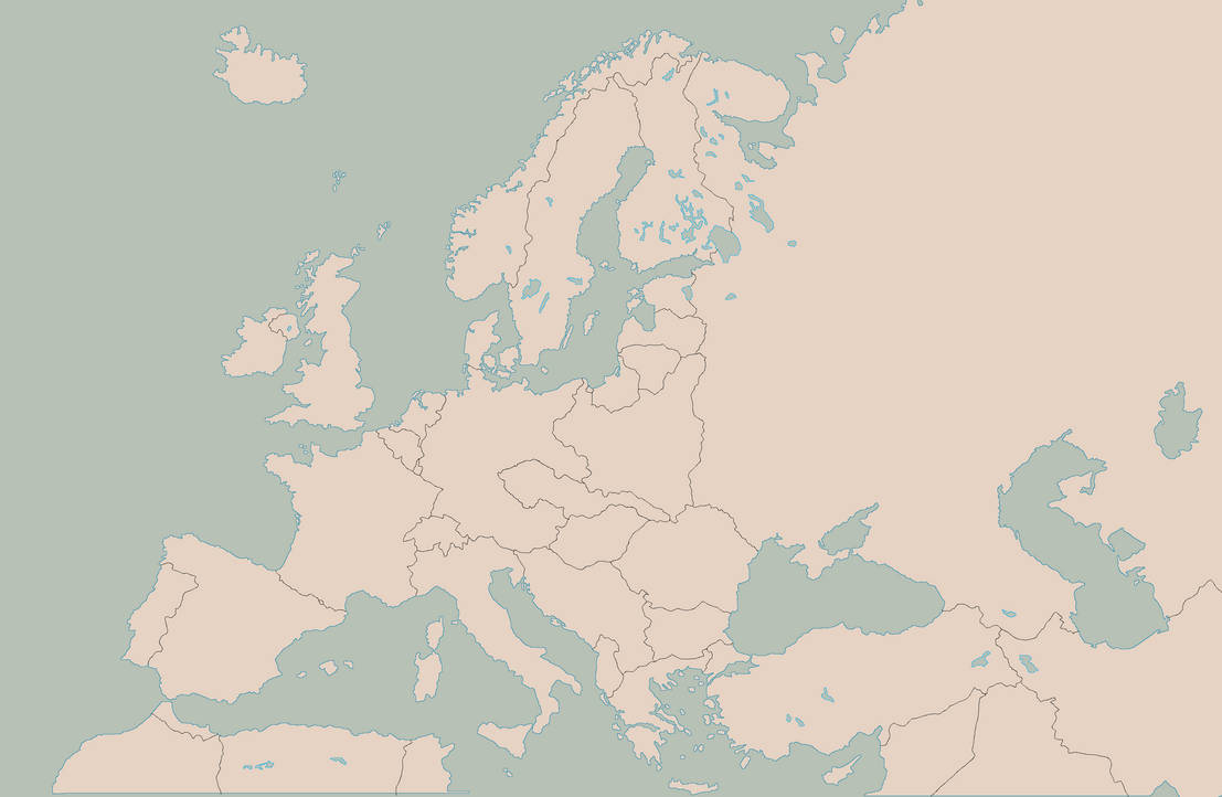 blank map of europe 1938 Blank Map of Europe with 1938 borders by Kuusinen on DeviantArt