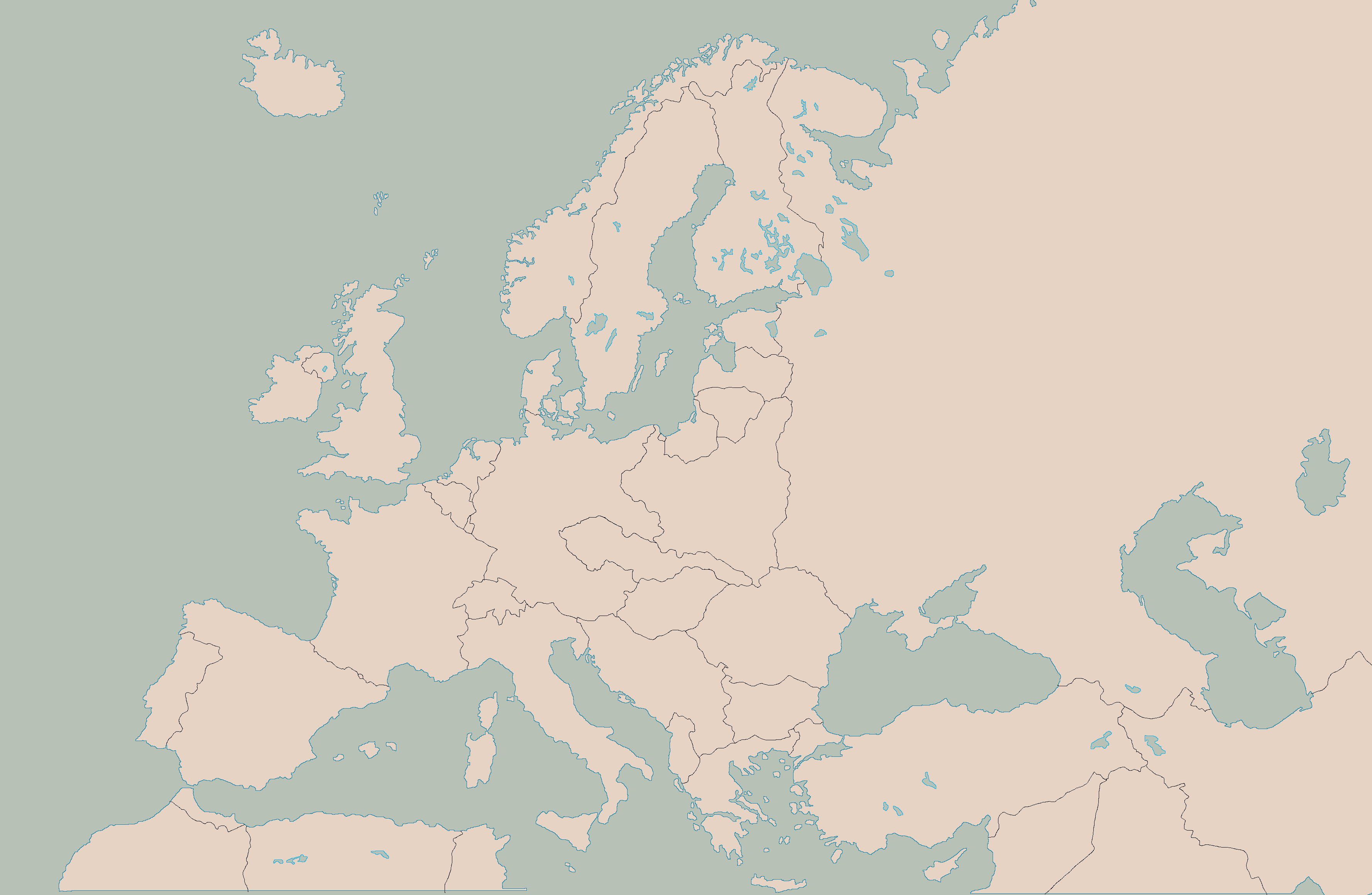 ... Blank Map Of Europe With 1938 Borders By Kuusinen
