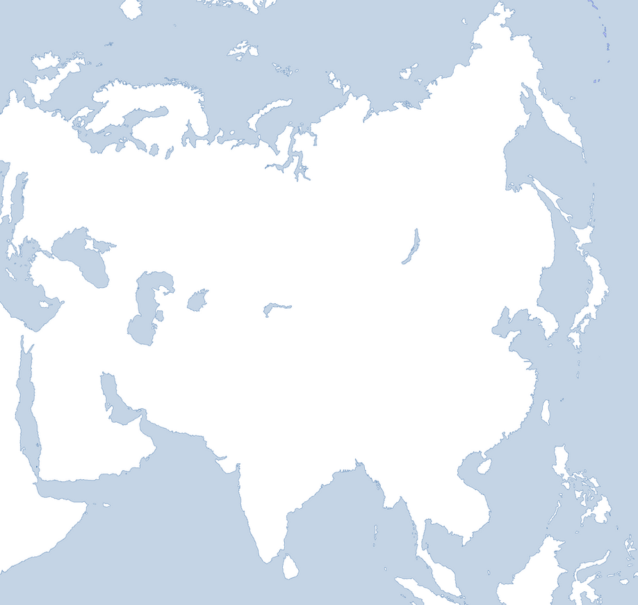 World Map Blank Without Borders. Blank Map of Asia  clean by Kuusinen on DeviantArt