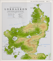 Detailed Map of Lordaeron by Kuusinen