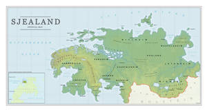 Physical Map of Sjealand