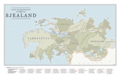 Political Map of Sjealand