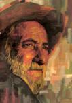 oldman in gouache