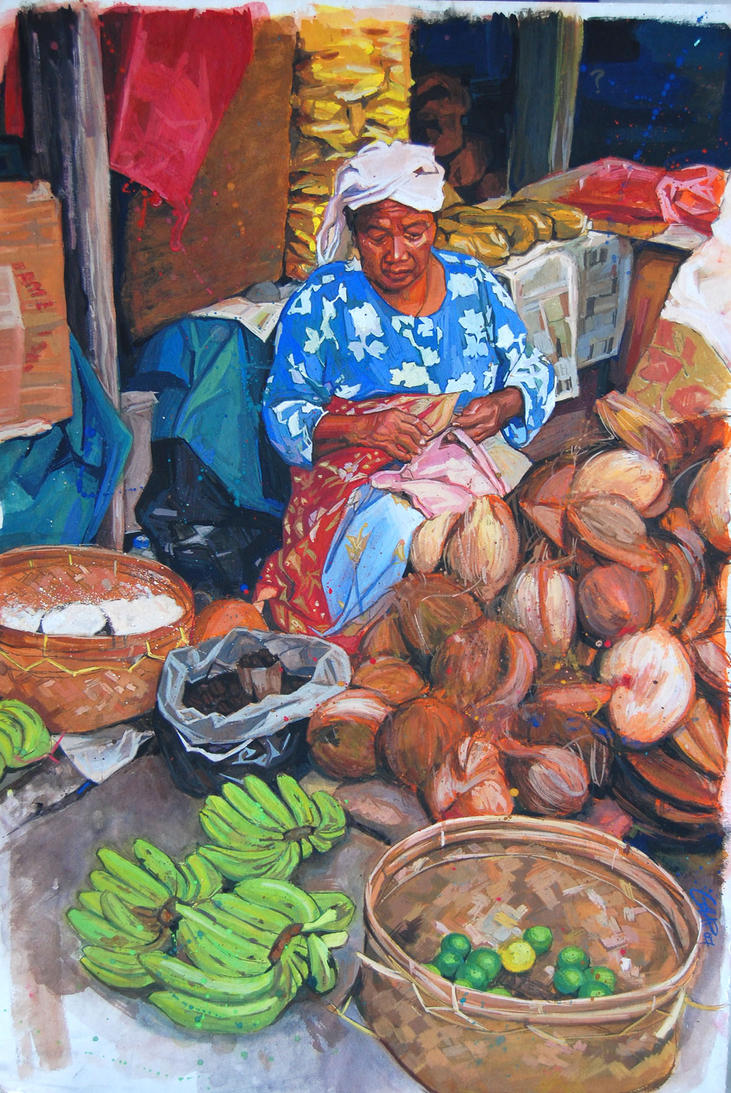 coconut vendor by FeiGiap