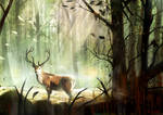 Cervus in jungle by FeiGiap