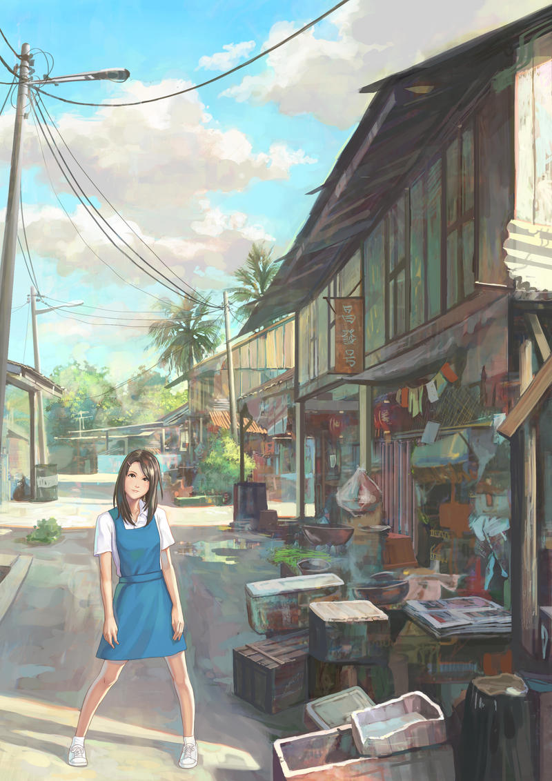 Village Schoolgirl by FeiGiap