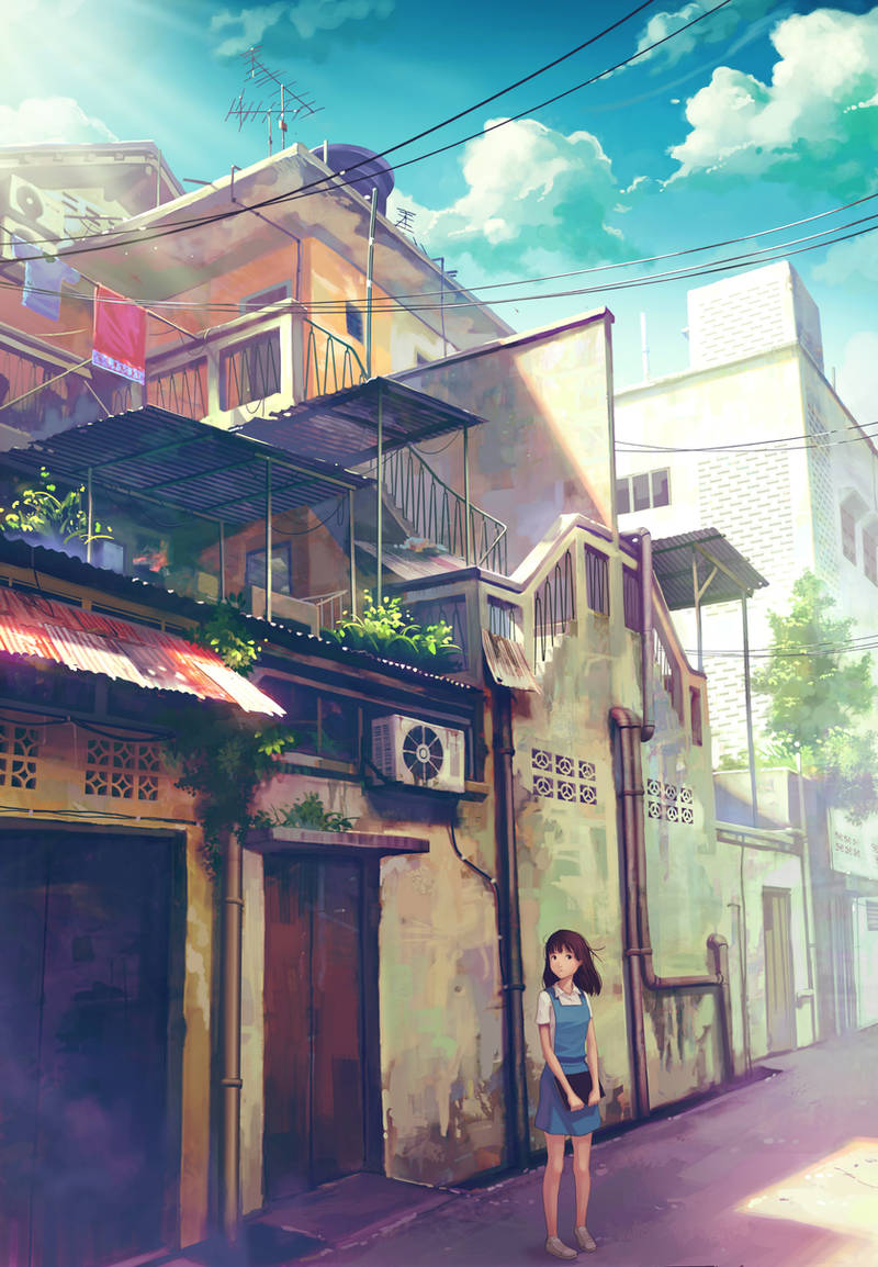 back alley girl by FeiGiap