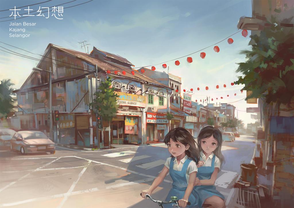 Schoolgirls traveler by FeiGiap