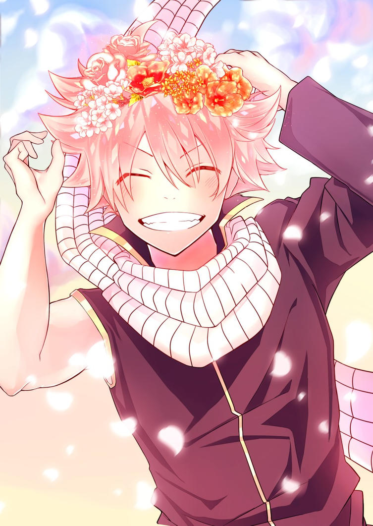 What makes Natsu cute... A Flower Headband by ...  Fairy