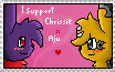 I support Chrissie x Aju stamp by TwilightTheEevee