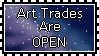 Art Trades Are Open Stamp by Auroraangle