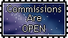 Commissions Are Open Stamp by Auroraangle
