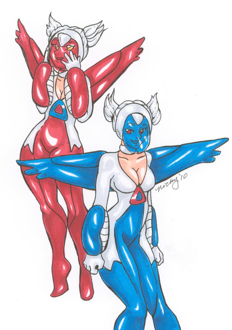 Latias and Latios by nickyflamingo on DeviantArt
