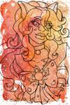 Galaxy Portrait Sailor Spessartine Fossa by nickyflamingo