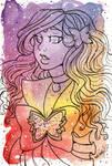 Galaxy Portrait Sailor Ametrine Butterfly by nickyflamingo