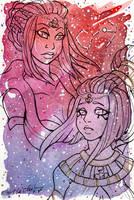Galaxy Portrait Sailor Scorpius by nickyflamingo
