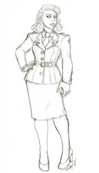 Peggy Carter Sketch
