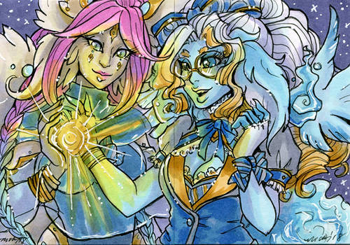 ACEO Safi and Esme