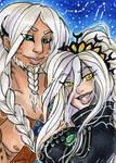 ACEO Alpha Lynx and Chamaeleon by nickyflamingo