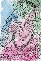 Galaxy Portrait Althea by nickyflamingo