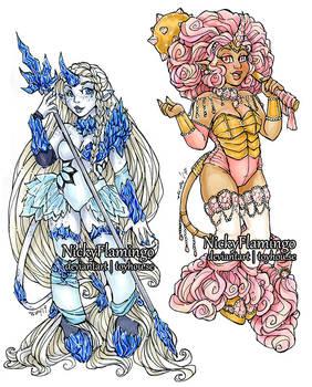 Mini Unicorns Sapphire and Morganite CLOSED