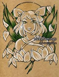 Brown Paper portrait Joy by nickyflamingo