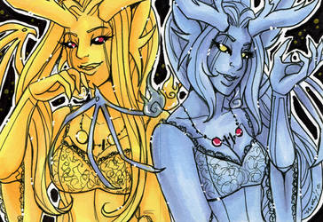 ACEO Bella and Donna by nickyflamingo