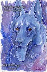 Galaxy Dog for Dad by nickyflamingo