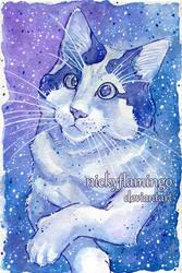 Galaxy Cat Sam by nickyflamingo