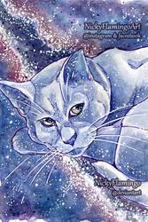 Galaxy Cat Asha Dreaming of Milky Way by nickyflamingo