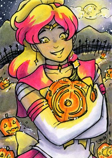 ACEO Pumpkin Pride Sailor Polaris
