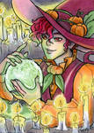 ACEO YCH Crystal Ball Grimm by nickyflamingo