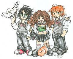 Three's a Charm by nickyflamingo