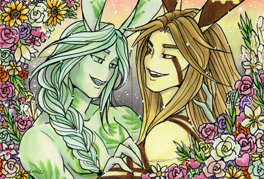 ACEO Valentines Eden and Eros