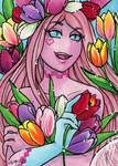ACEO Reward Tulip Rosa by nickyflamingo