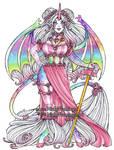 Pink Roses and Rainbows Unicorn by nickyflamingo
