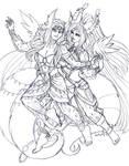 Reward Aisha and Ty'aria by nickyflamingo