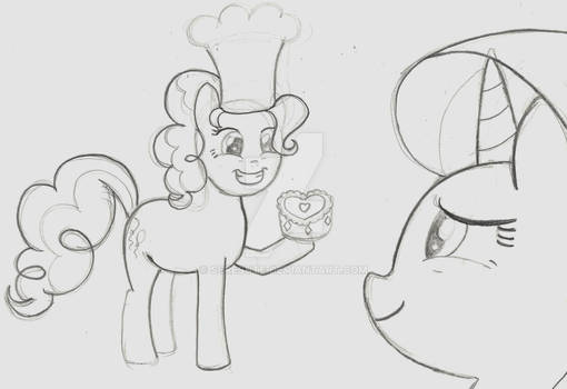 I baked you a cake! (pencil version)