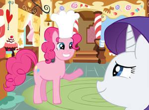 Rarity visits Pinkie Pie