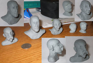 Clay Busts by BenRR