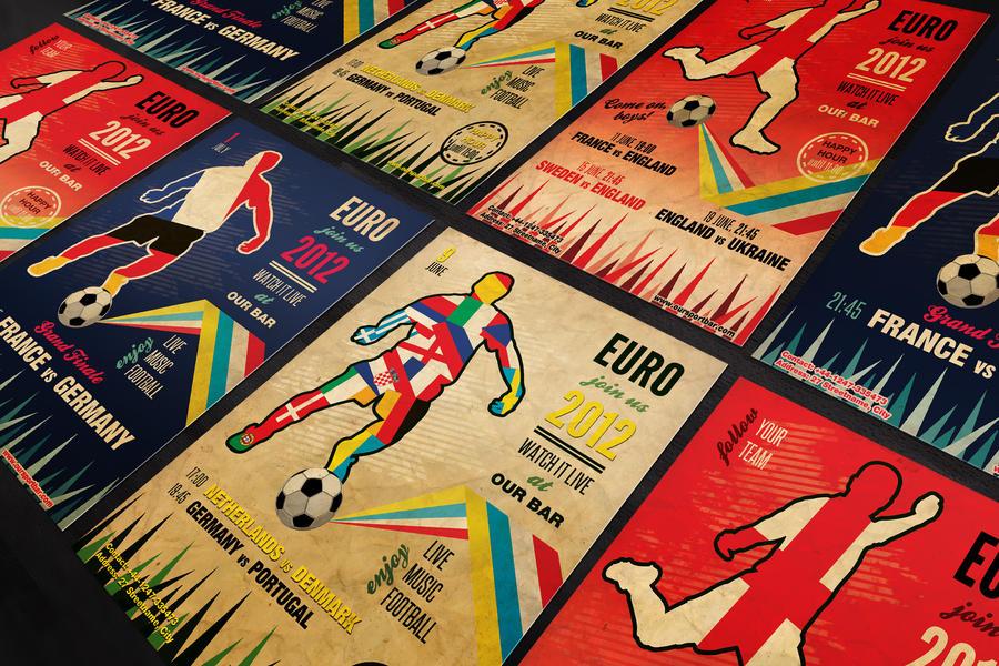 Vintage Football Flyer Template Psd By Silentmojo On Deviantart