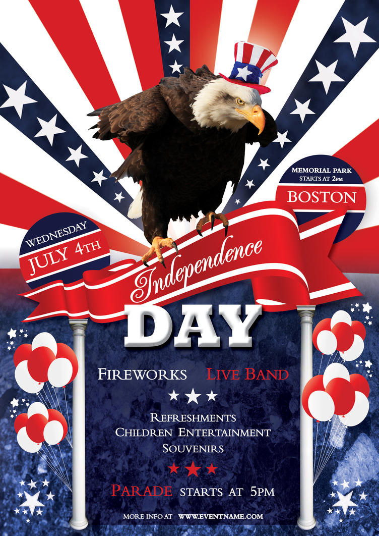 Independence Day Flyer Template PSD By Silentmojo ...