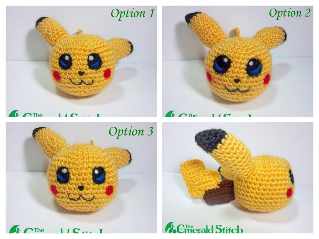 Amigurumi Pokemon Ball : For sale! Pikachu Poke Ball by TheEmeraldStitch on DeviantArt