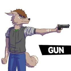 For his neutral special he wields a gun by Dabobomb101