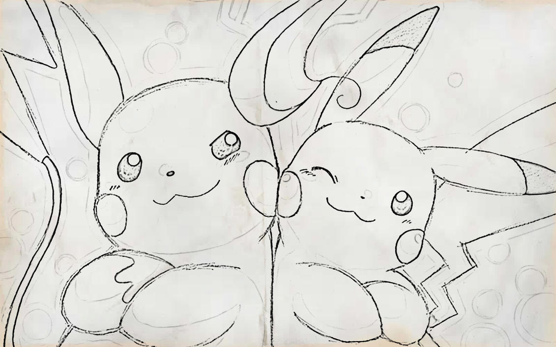 zombie pikachu coloring pages - photo#10