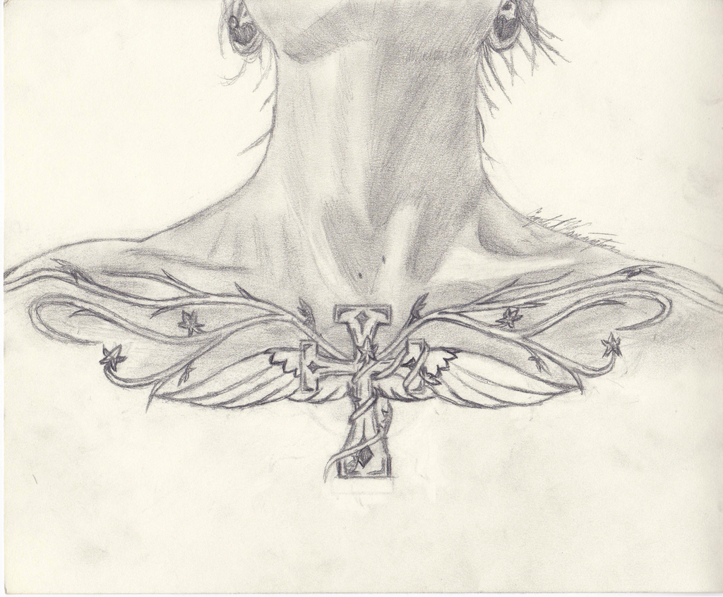 Collarbone Tattoo Design (Frontal) by Bright-Eyes-See-Lies