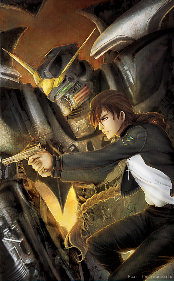 Duo Maxwell by FalseDelusion on DeviantArt Gundam Wing Deathscythe Hell Wallpaper
