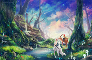 Mononoke Hime by FalseDelusion