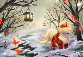 Arcanine's Winter by FalseDelusion