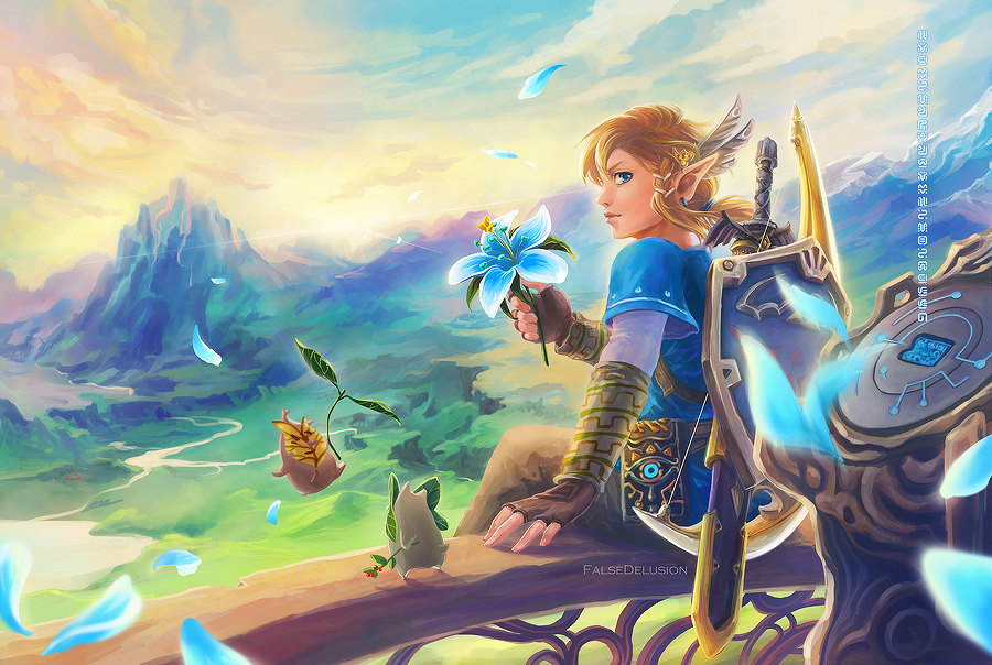 Breath Of The Wild Wallpaper: Zelda: Breath Of The Wild Fan Art Favourites By Danlev On